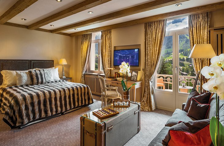 Gstaad Palace new deluxe suite bedroom