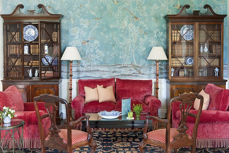 Finca Cortesin Hotel cozy lounge