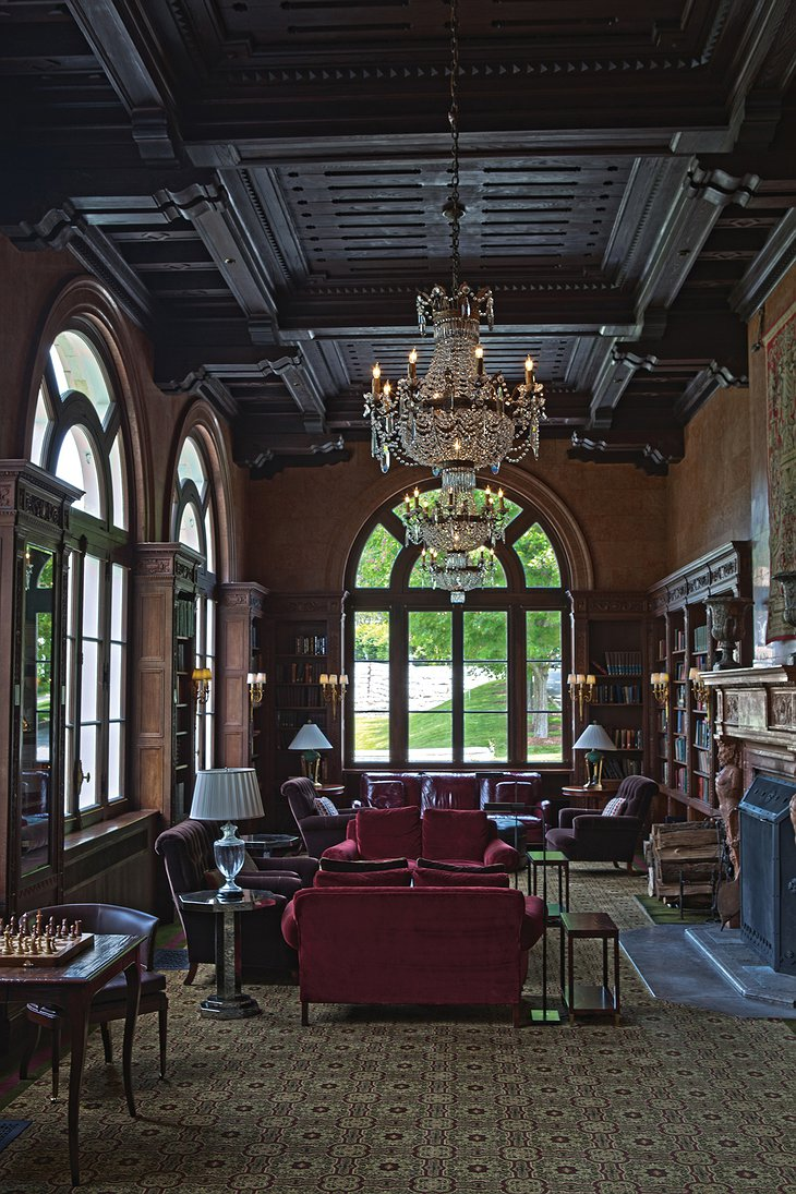 Canyon Ranch Lenox Mansion library