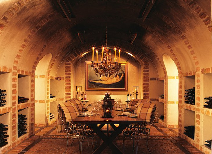Huka Lodge wine cellar