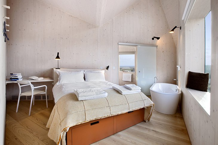 The Dune House bedroom