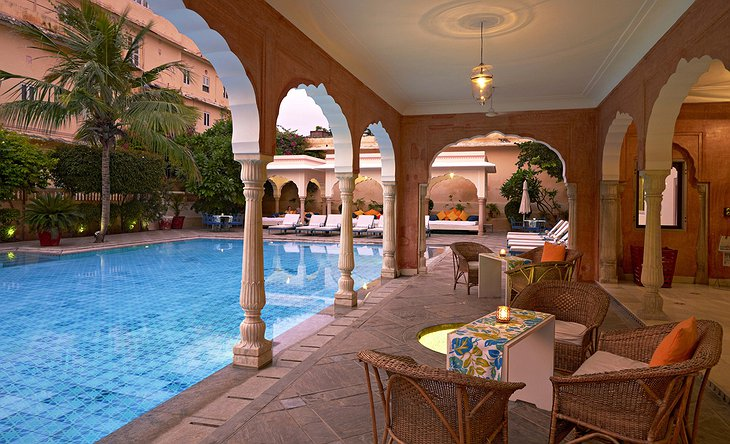 Samode Haveli poolside