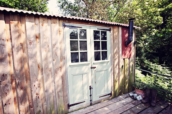 Shepherd hut hand painted exterior
