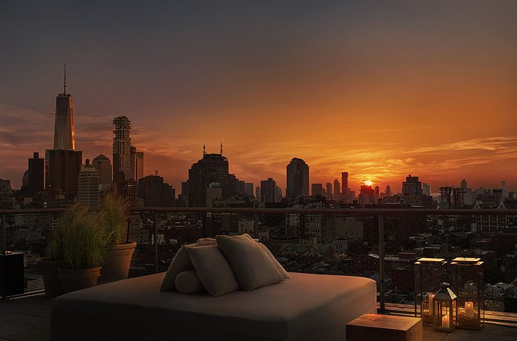 PUBLIC Hotel New York Rooftop Sunset