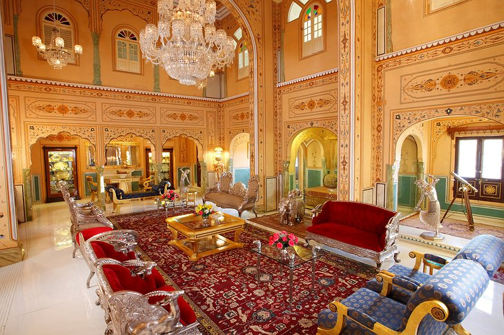 The Raj Palace grand lounge