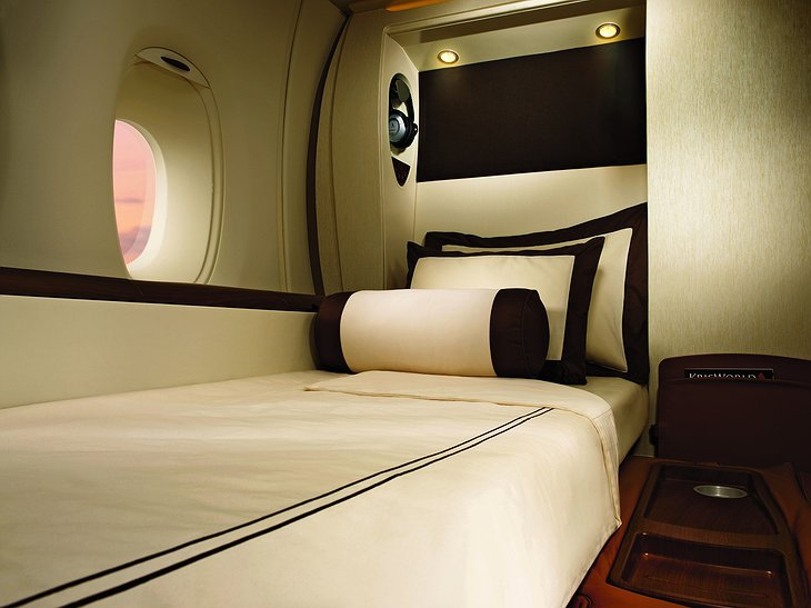 Singapore Airlines Suites sleeping cabin