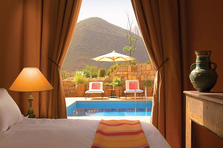 Kasbah Tamadot room with pool