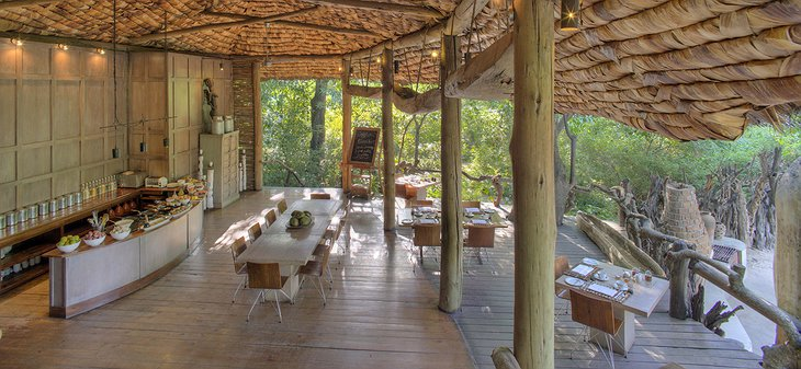 Guest Area at &Beyond Lake Manyara Tree Lodge