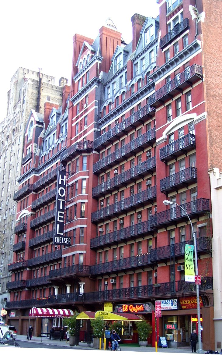 Hotel Chelsea building in New York