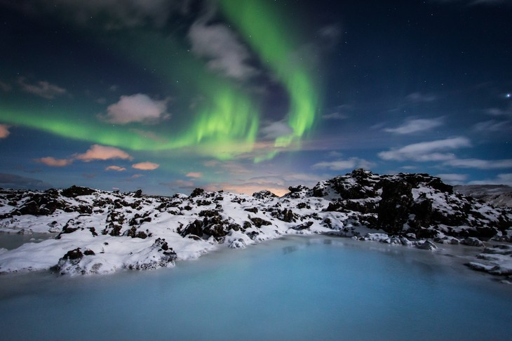 Blue Lagoon and the Northern Lights