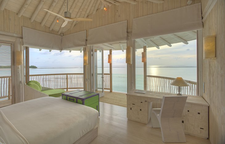 Soneva Jani Maldives bedroom with ocean view