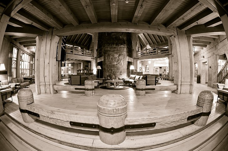 Timberline Lodge wide interior