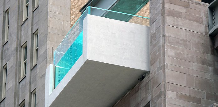 The Joule - Cantilevered Pool on the 10th Floor in Downtown Dallas