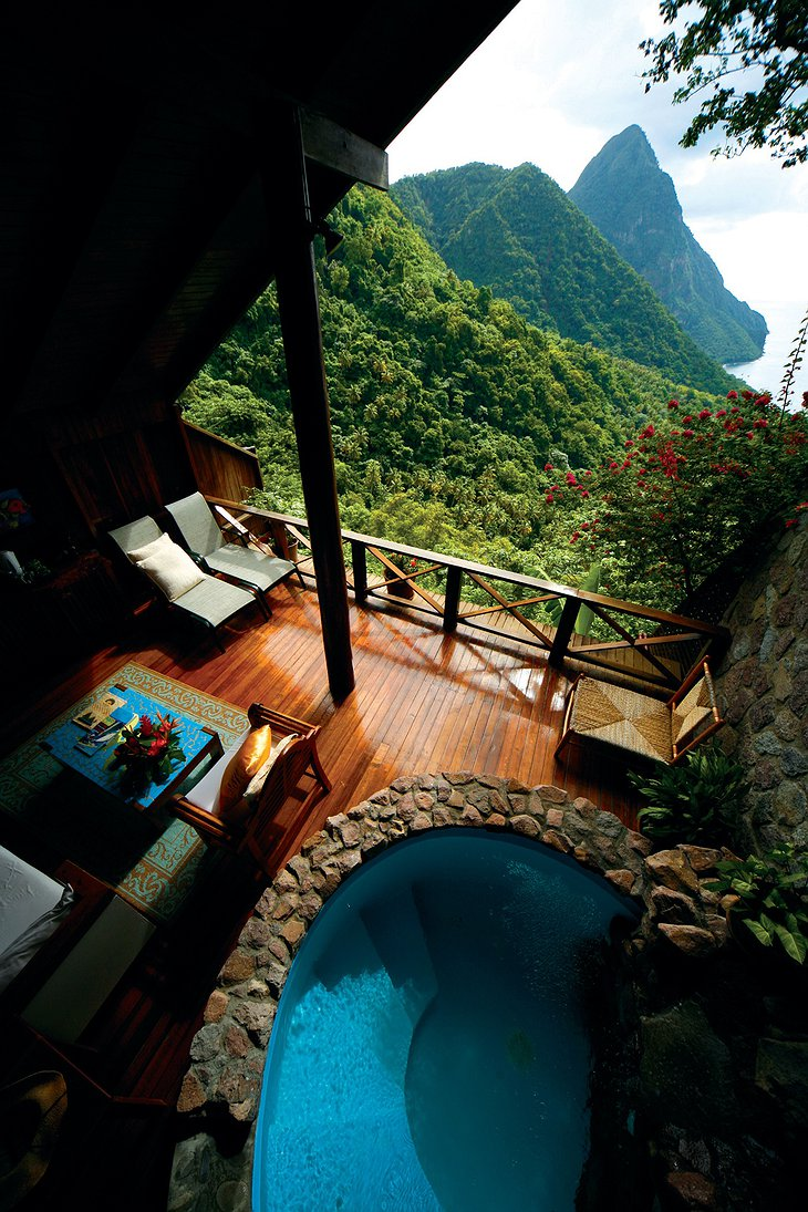 Ladera Resort bungalow views