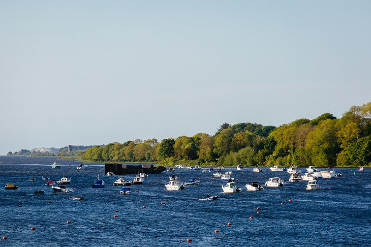 River Moy with boats