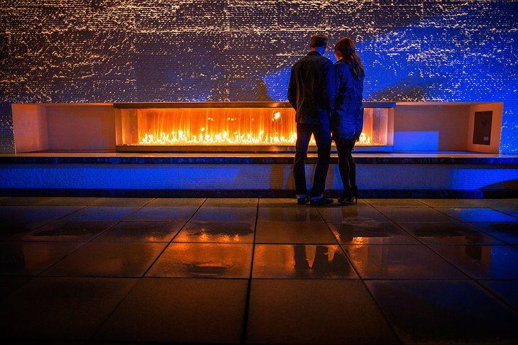 Romantic couple at the Frolik rooftop terrace