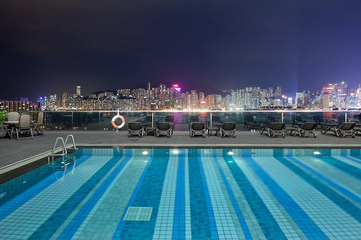 Pool with Hong Kong panorama