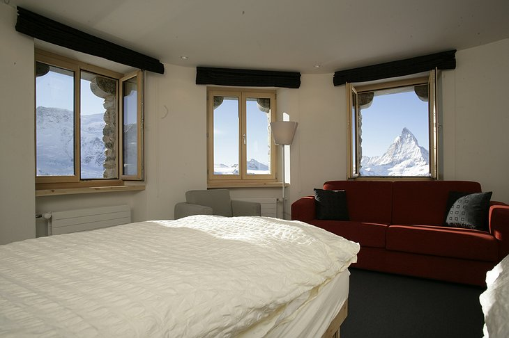 Kulmhotel Gornergrat room with mountain views