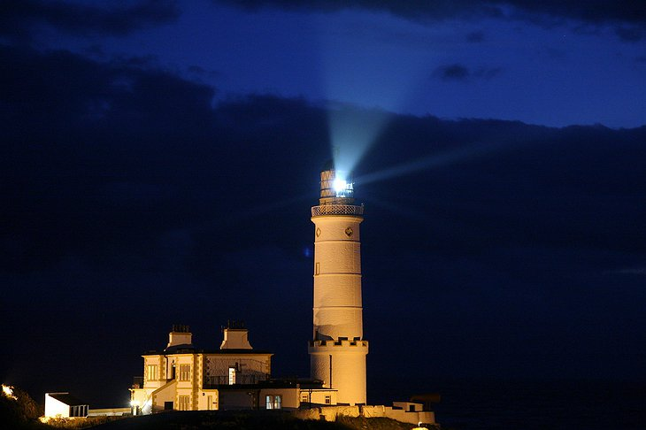 Corsewall Lighthouse at night
