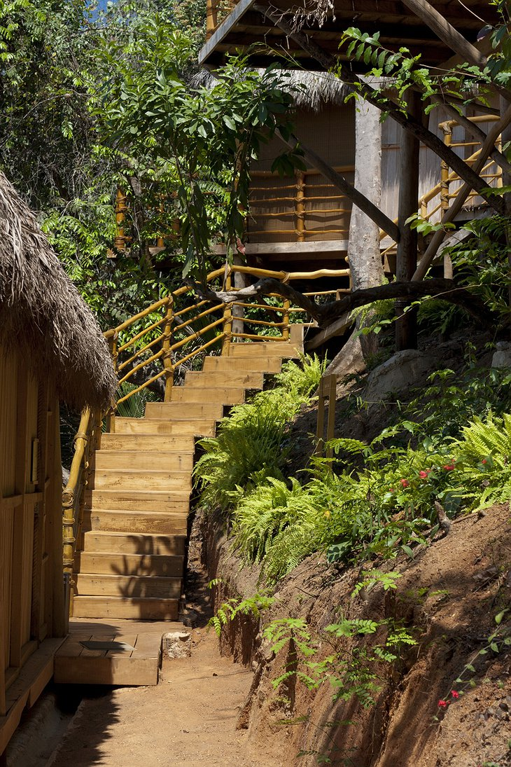 Xinalani Retreat stairs