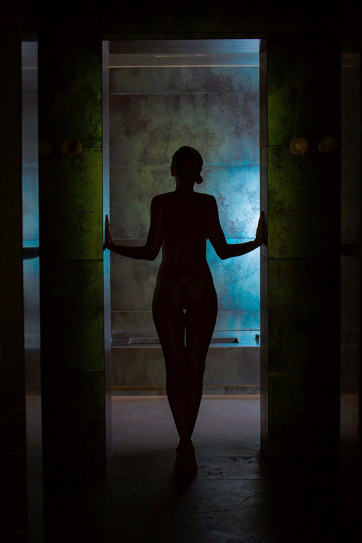 Naked woman in the spa