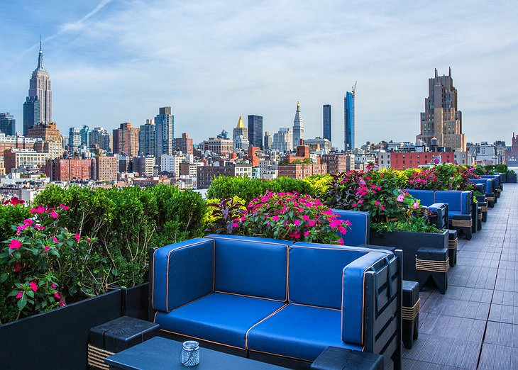 PH-D Rooftop Lounge New York skyline panorama