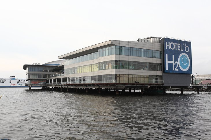 H2O floating hotel exterior in Manila