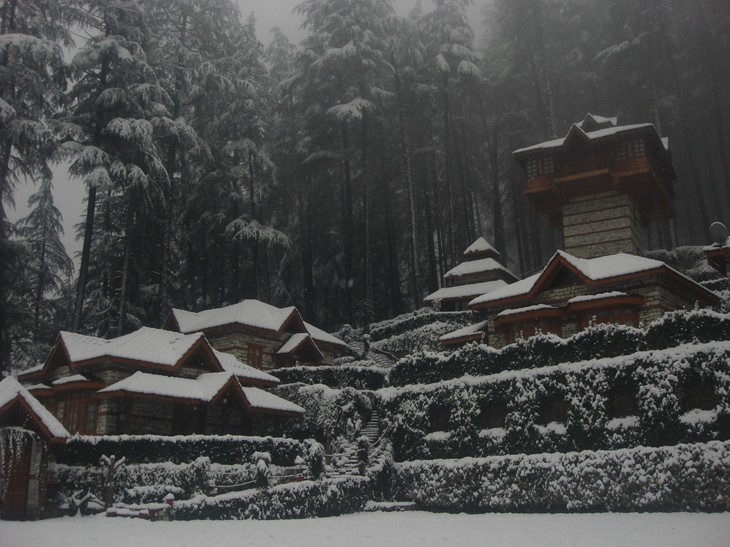 The Himalayan Village Resort in the winter