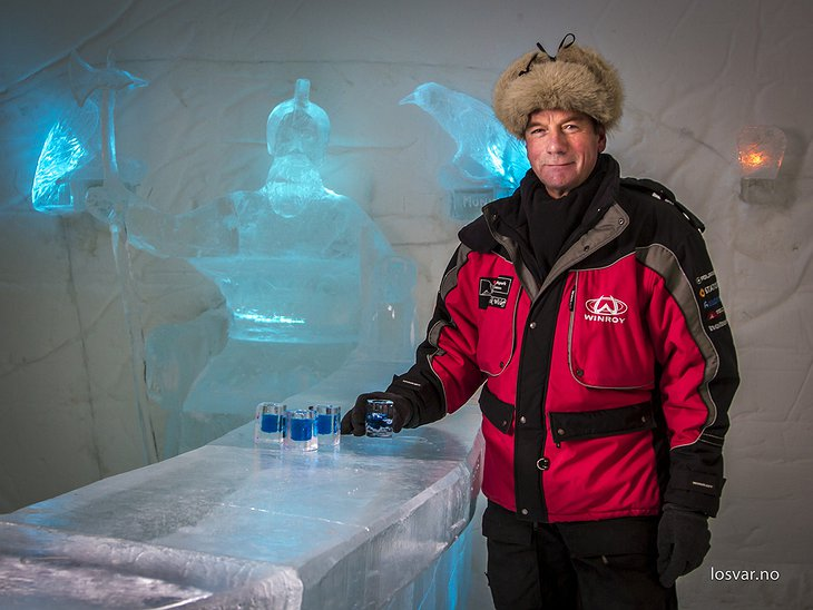 Ice bar with ice shots