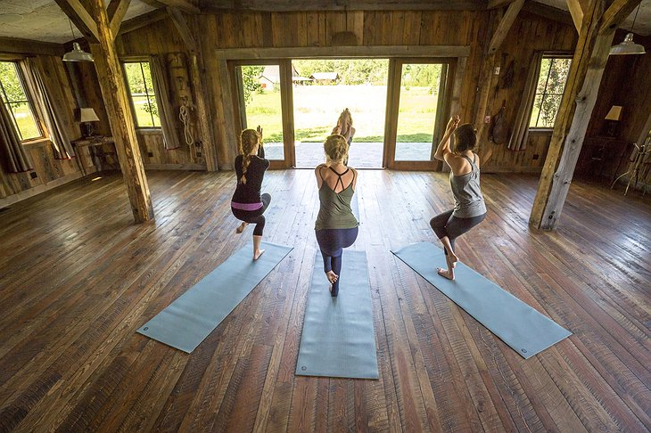 The Ranch at Rock Creek yoga session