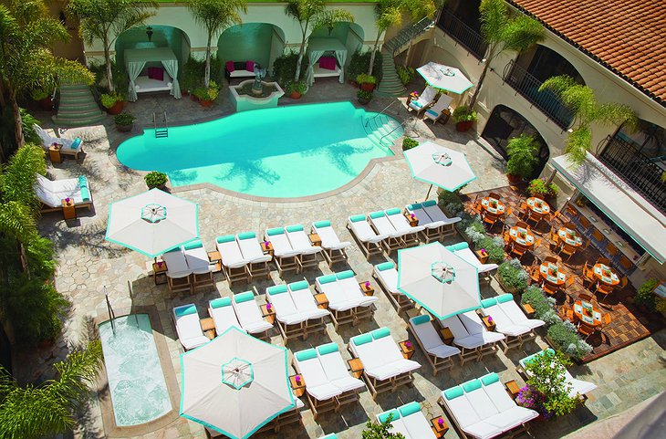 Beverly Wilshire Hotel Pool