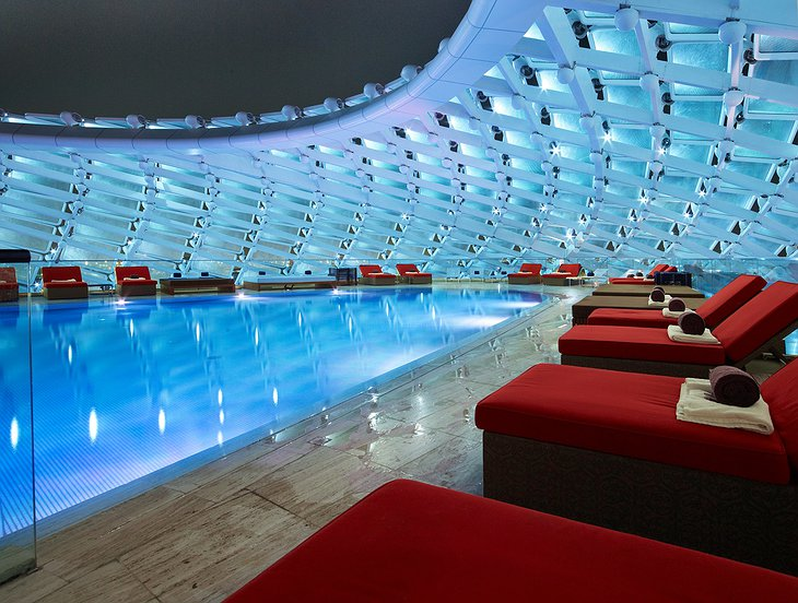 Yas Viceroy hotel swimming pool