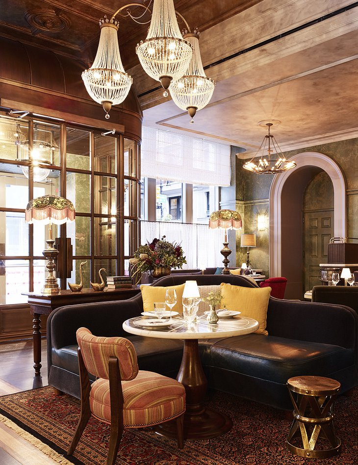 The Beekman Hotel lounge