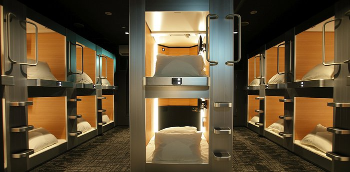 New Japan Capsule Hotel Cabana in Osaka - Male Only Accommodation