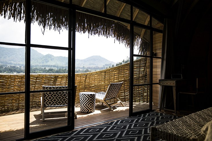Bisate Lodge private balcony