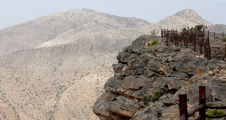 Al Hajar Mountain cliff edge