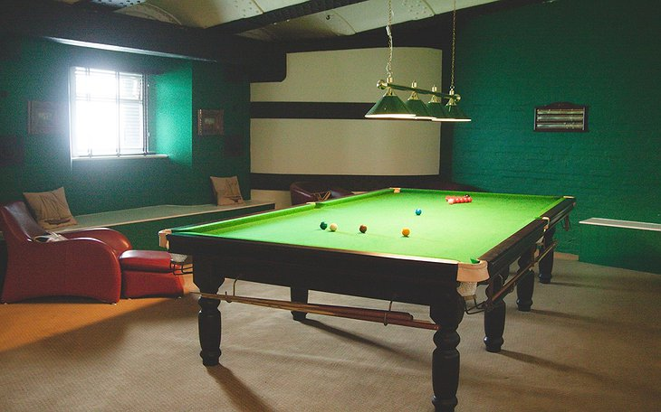 No Man's Fort billiard game room