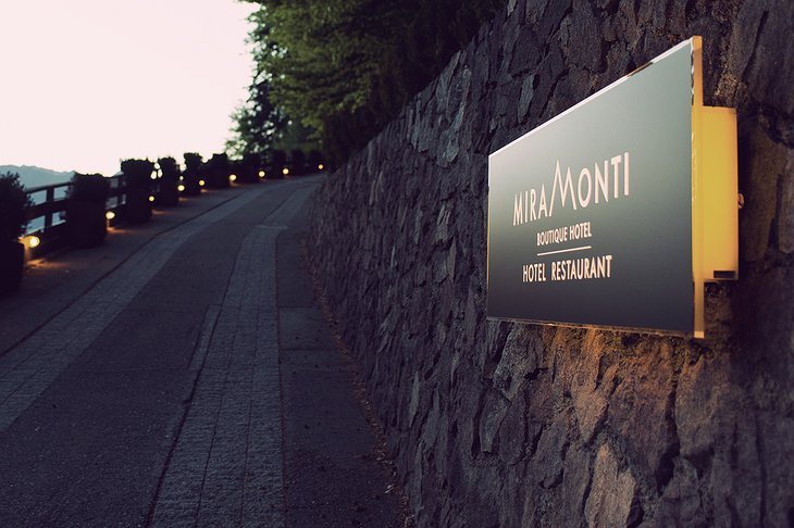 Miramonti Boutique Hotel road sign