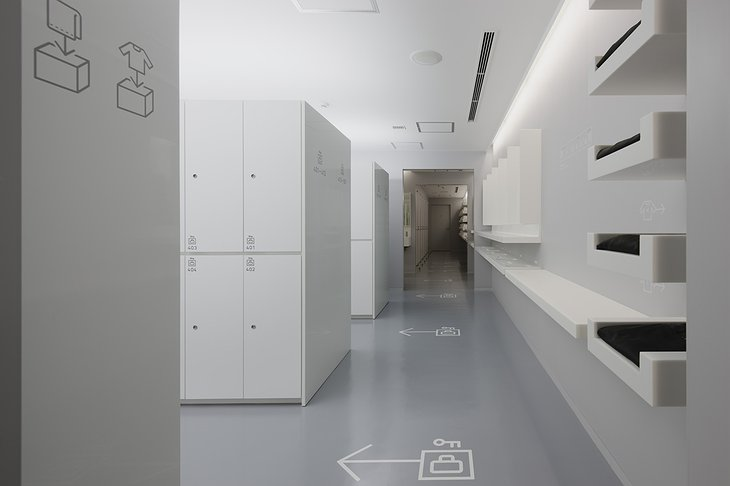 9 Hours Capsule Hotel Lockers