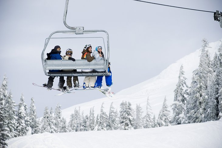 Ski lift in Timberline