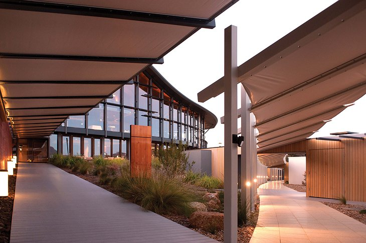 Saffire Freycinet hotel facade and walkways