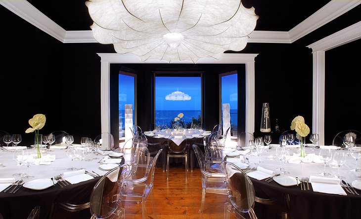 Design restaurant with sea view
