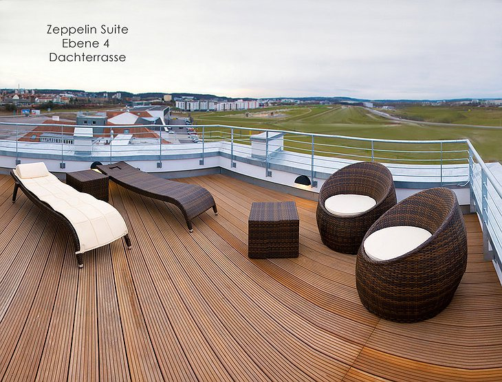 V8 Hotel rooftop terrace