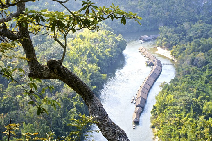 River Kwai Jungle Rafts aerial