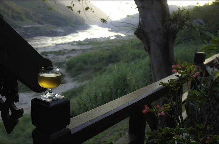Drink at the Mekong river in Laos