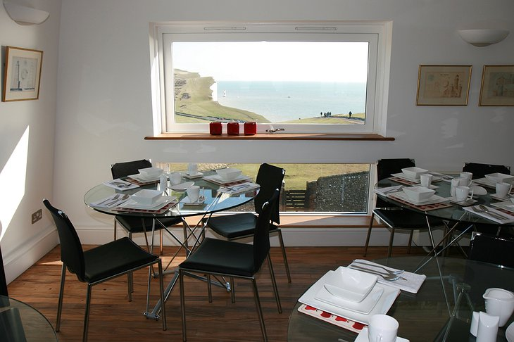Belle Tout Lighthouse dining room