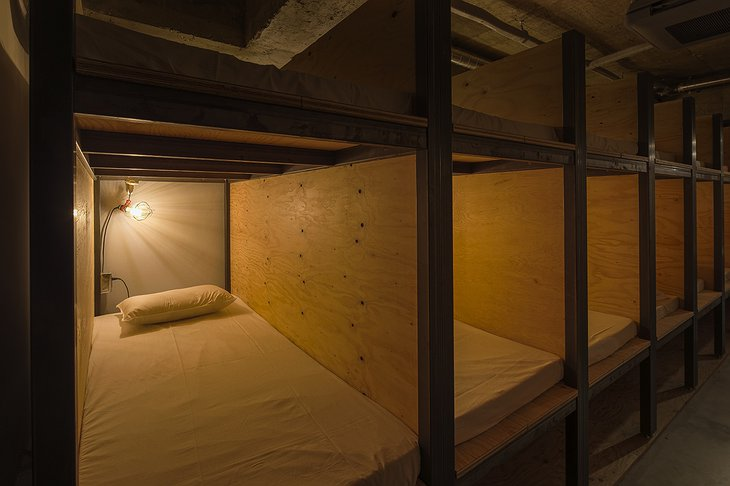 Bunk beds at Book and Bed Tokyo
