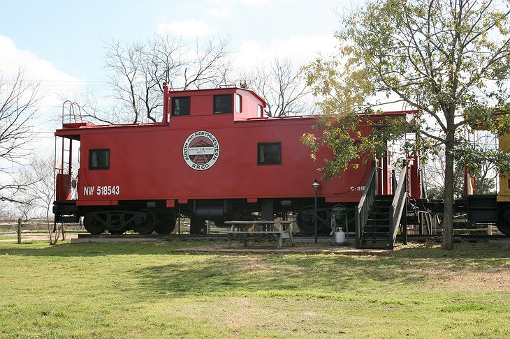 The Antlers Inn Red Train Caboose