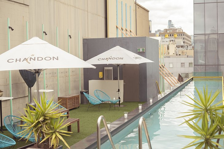Adelphi Hotel Melbourne rooftop pool