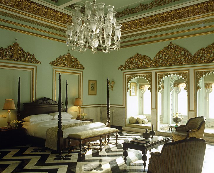 Lake Palace Hotel suite